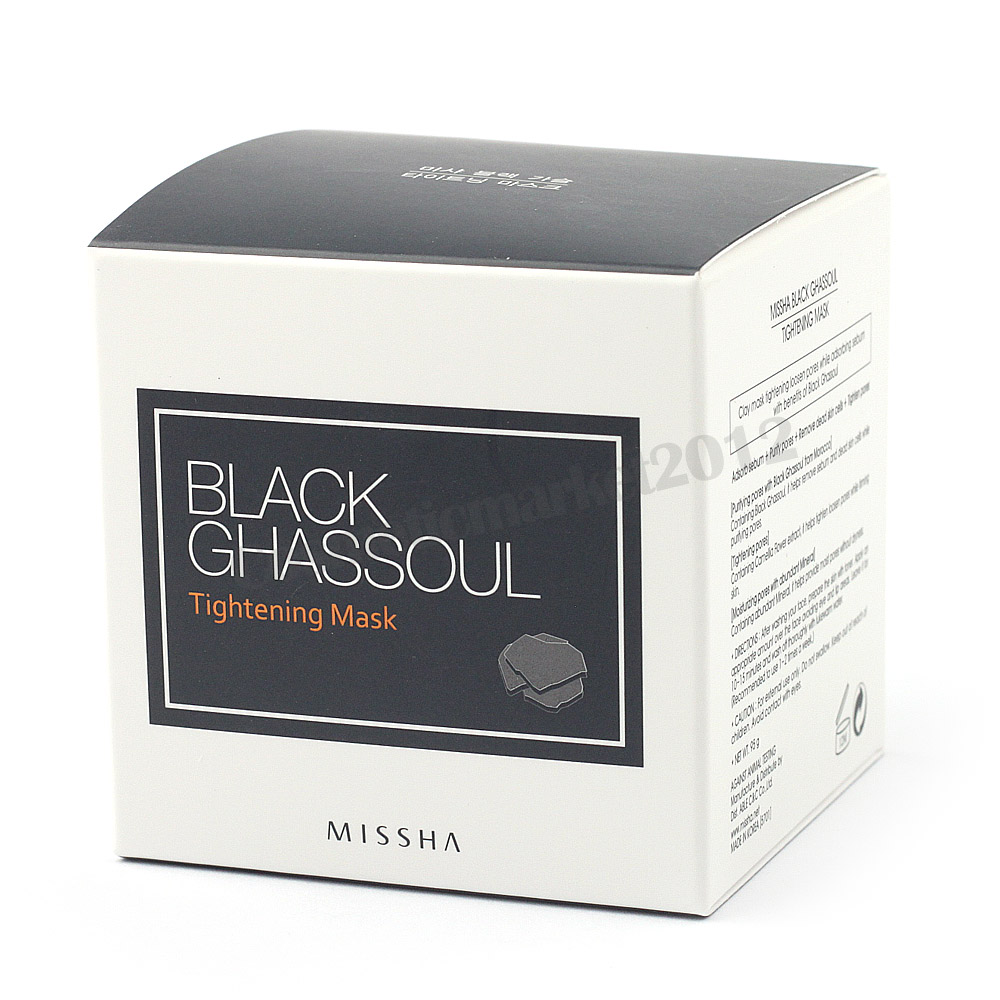 missha black ghassoul tightening mask 95 г