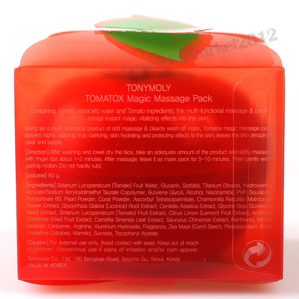 tomatox magic massage pack how to use
