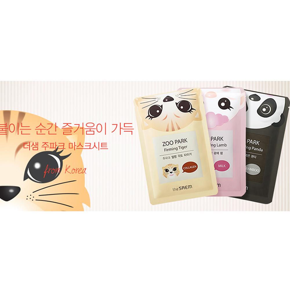 The Saem Zoo Park Mask Sheet 25ml 3 Pcs Bamboo Milk Collagen Ebay Natural Tox Apple