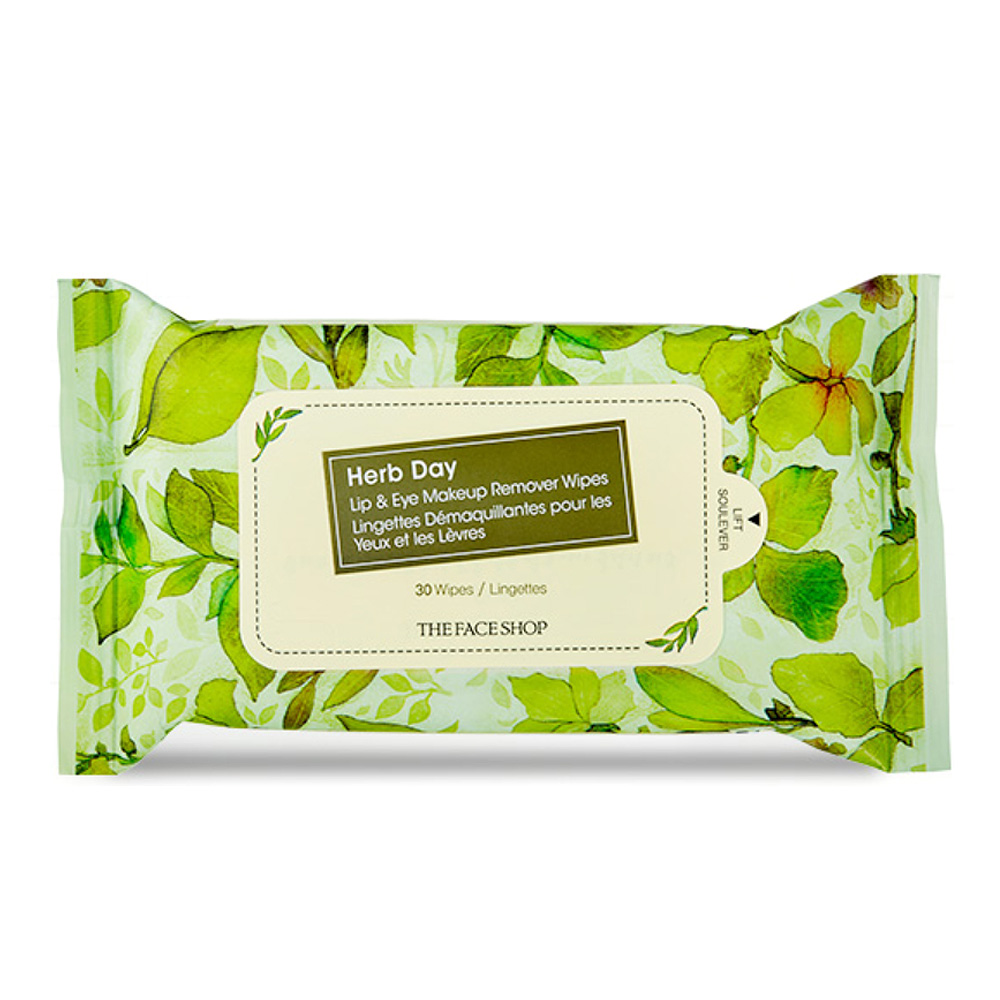 Details About The Face Shop Herb Day Lipeye Make Up Remover Wipes 30sheets